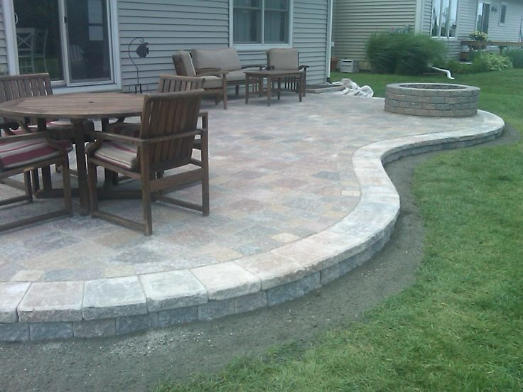 25 Great Stone Patio Ideas for Your Home in 2019 | for the yard | Pinterest  | Patio, Backyard patio and Brick paver patio - 25 Great Stone Patio Ideas For Your Home In 2019 For The Yard