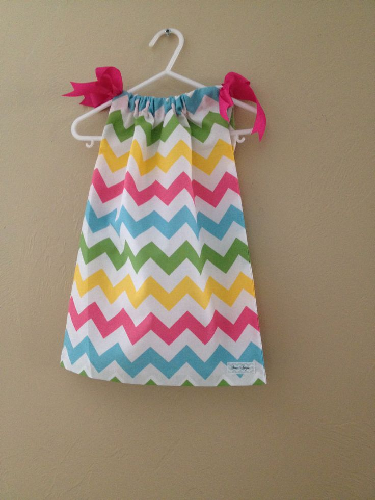 Chevron pastel pillowcase dress $20.00 @ https://www.facebook.com/SewAngie Sew Pillowcase ...