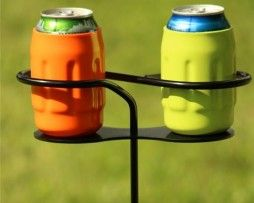 Drink holder for outdoor games such as cornhole. Available at AllCornhole.com.