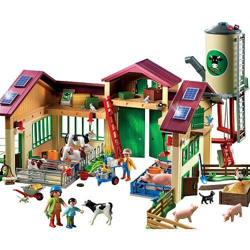 Playmobil barn with silo playmobil toys r us frankie santa pinterest playmobil - Piscina toys r us ...