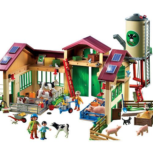 Playmobil barn with silo playmobil toys and plays for Piscina lego friends
