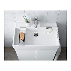 IKEA - LILLÅNGEN, Waschbecken/1, 60x41x13 cm, , Inklusive 10 Jahre Garantie. Mehr darüber in der Garantiebroschüre.Die Kante bildet eine praktische Abstellfläche für Seifenschale, Zahnbecher usw.