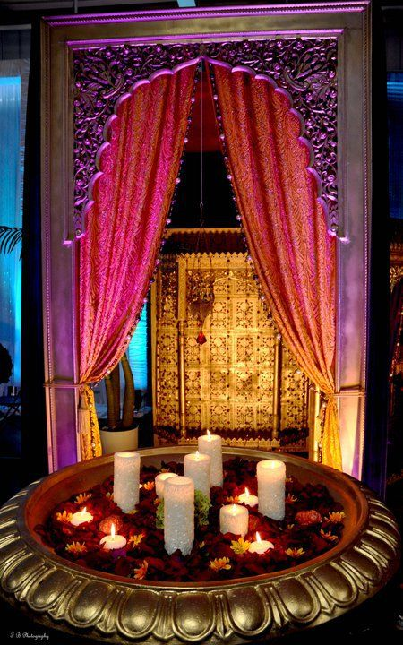 Great color scheme for an Indian Wedding