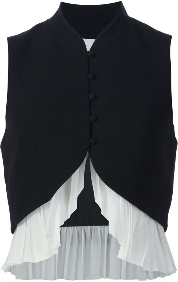 Cinq A Sept layered hem waistcoat