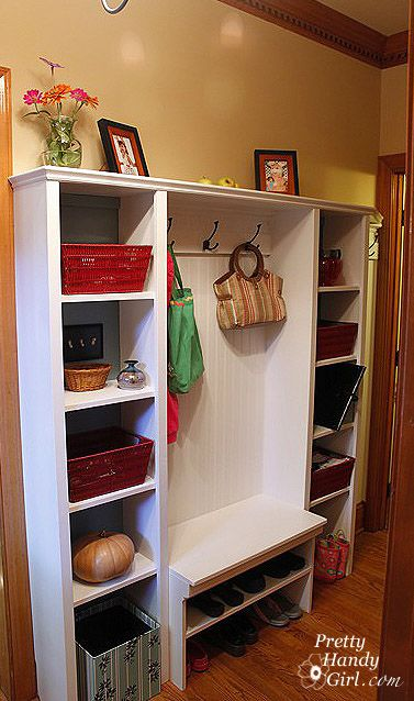 Built In Hallway Storage Shoe Storage Bench For Mudroom