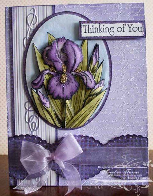 how to make simple card with heartfelt creations classic petunia