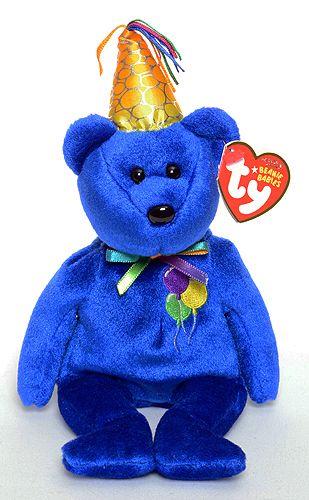 Happy Birthday (blue) - Bear - Ty Beanie Babies