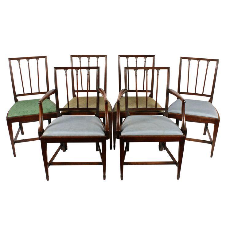 Set of Six 18th Century Hepplewhite Chairs