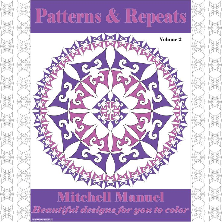 Patterns and Repeats Volume 2: 35 Beautiful designs for you to color by ColoringinBooklet on Etsy