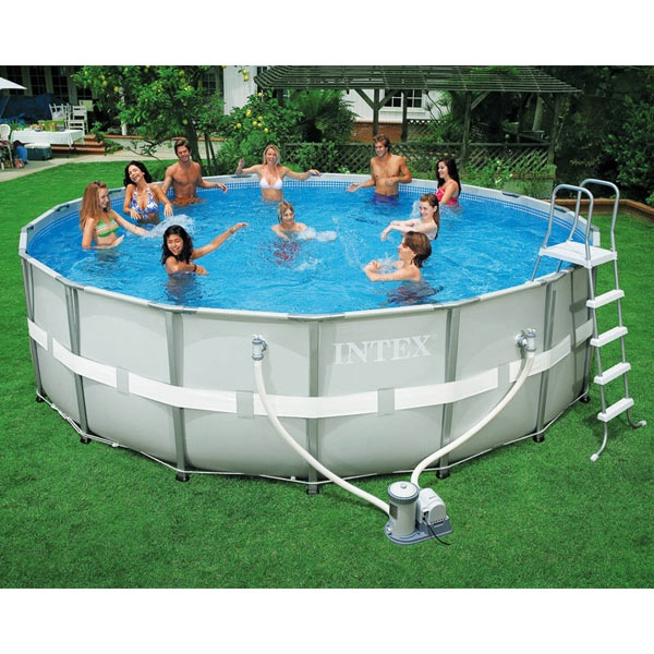 Intex Ultra Frame Round Above Ground Pool 18ft X 52in 54957eg Swimming Pool Supplies Pools