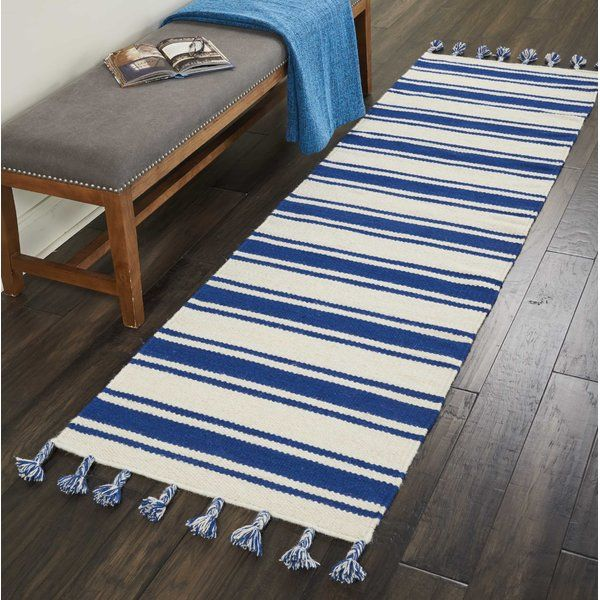 Welling Handwoven Braided Ivory Navy Area Rug Area Rugs Navy