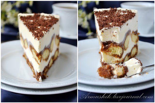 """Тирамису у нас числится в фаворитах.Любим мы этот десерт как в """"свежем"""",так и в замороженном виде.:) --------------------- печенье «Савоярди» (у меня была 400г упаковка, использовала ровно половину) 100г тертого шоколада для украшения ------------------ КОФЕЙНАЯ ПРОПИТКА: 115г…"""