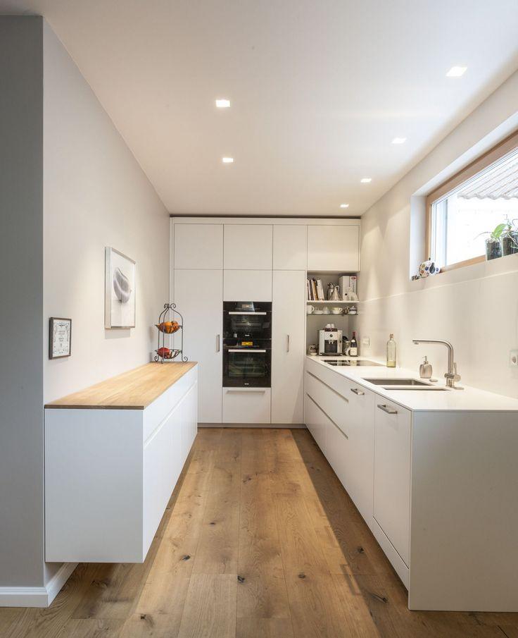 11 Moderne Küche Weiss Matt   Kitchen remodel layout, Freestanding kitchen, Kitchen design