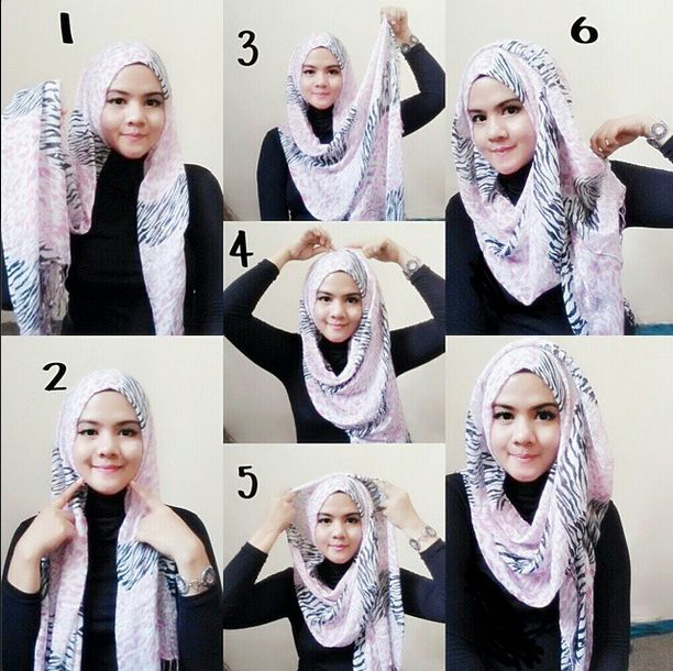 Gorgeous 6 Steps Hijab Tutorial