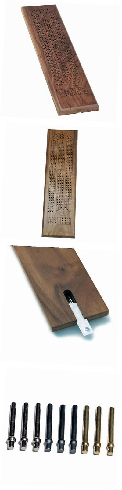 Card Games-Vintage 146004: Classic Cribbage Set - Solid Walnut Wood Continuous 3 Track Board With Metal -> BUY IT NOW ONLY: $31.54 on eBay!