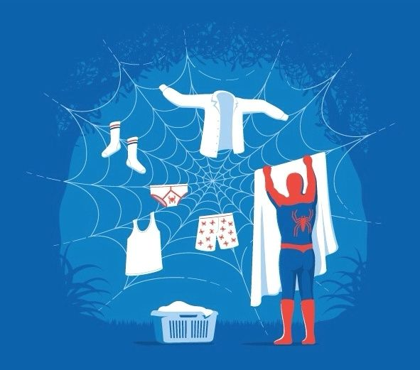 With gr8 power, comes gr8 responsibility...with #laundry. Use @LaundRConcierge. Save the world #NationalSuperheroDay https://goo.gl/axcBxd