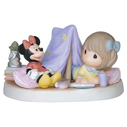 Disney Girl With Minnie In Tent Figurine - Every Day Is An Adventure With You