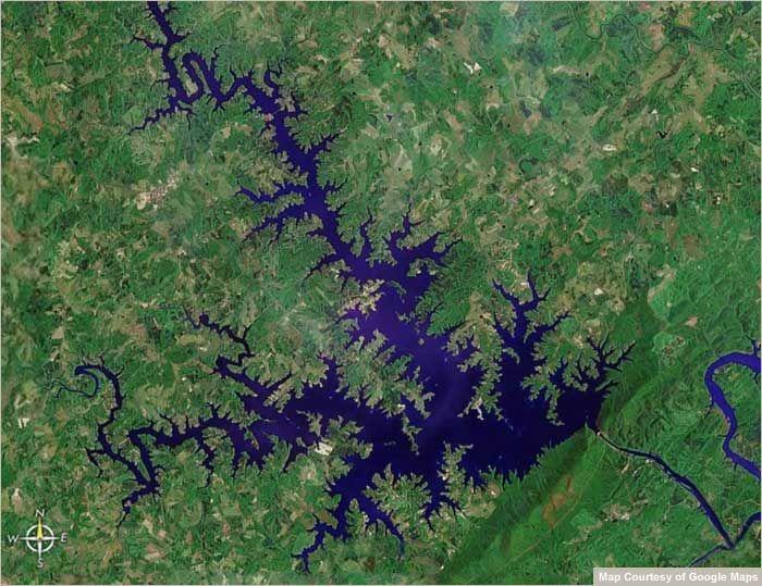 The Smith Mountain Lake Interactive Satellite Map Virginia Maps