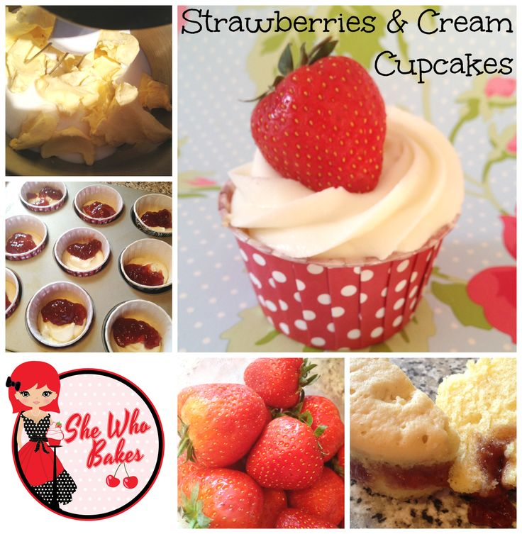 dr who strawberries cupcake cream forwards strawberries cream cupcakes ...