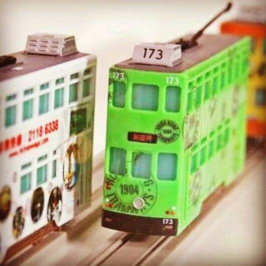 Hong kong tram model set