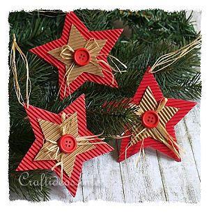 Corrugated Cardboard Christmas Star Ornament