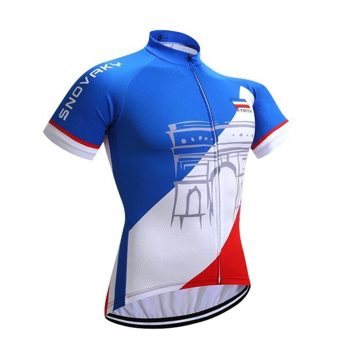 Bicyclette Sunday Les Hommes Respirants /à Manches Courtes Maillots de Cyclisme Tops pour v/élo Motard