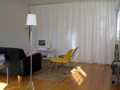 ikea hackers curtain room divider