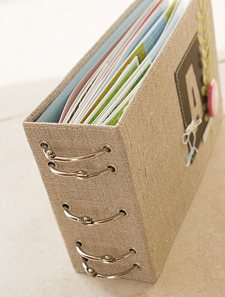 binding to try -- I already have the jumbo eyelets and XL book rings. Very creative book:)