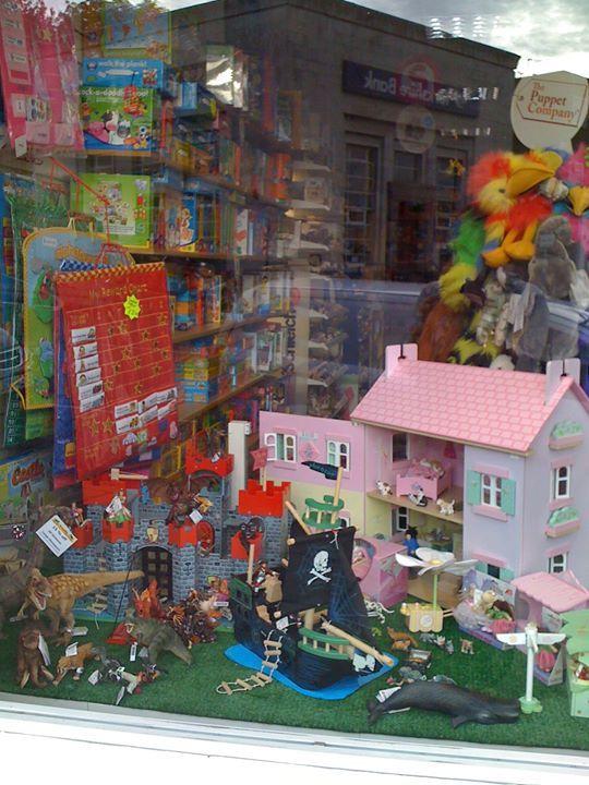 Armadillo Toys window display, Leeds, West Yorkshire, England.