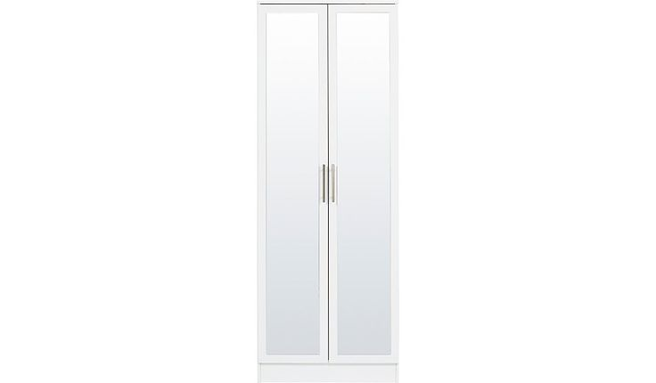 Buy George Home Roselyn 2 Door Wardrobe with Mirror - White from our Wardrobes range today from George at ASDA.