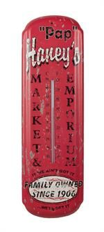 Over-sized Vintage Style Thermometer