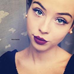 Time to get purple lipstick!!