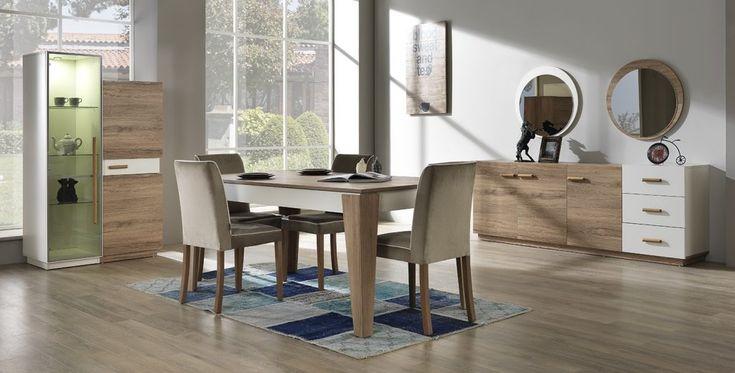 Muzaffer mobilya tarafından sunulan yemek odası modelleri arasında kullanışlı yapısı ve geometrik görünüm ile göze çarpan Pegasus Yemek odası mobilya fiyatları konusundada cazip teklifler sağlıyor. Muzaffer Mobilya Pegasus Yemek Odası geniş bir kombinasyona sahip şöyle ki mobilya modelleri içeriği olarak konsol , gümüşlük , yemek masası ve 4 adet sandalye ile birlikte bir yaşam tarzı veriyor. Ceviz ve beyaz renklerinin birleşmesinden doğan takımda konsol 3 kapaklı ve 3 çekmecelidir , uzun…