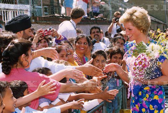19 July 1990 Princess Diana visiting the Southall Alcohol Advisory Service, London,