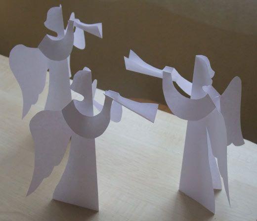 Рождественские ангелы из бумаги