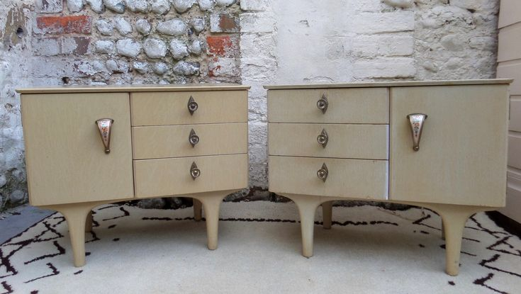 Best Pair Of Mid Century French Bedside Cabinets Poachers Barn 640 x 480