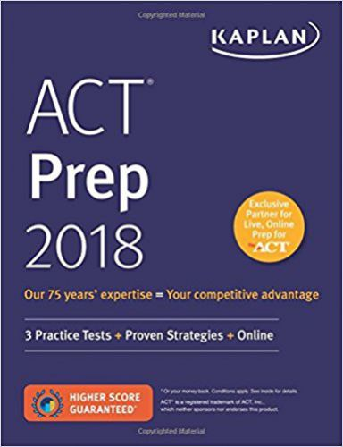 ACT Prep 2018: 3 Practice Tests + Proven Strategies + Online (Kaplan Test Prep) Product Information: About the Author For almost 80 years, Kaplan Test... #prep #kaplan #test #online #proven #practice #tests #strategies