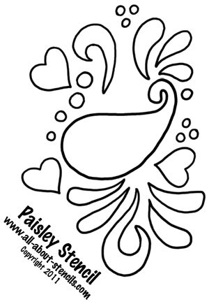 stencils of paisley design | ... This Paisley Stencil in a Stencil Art Project and Find Free Stencils