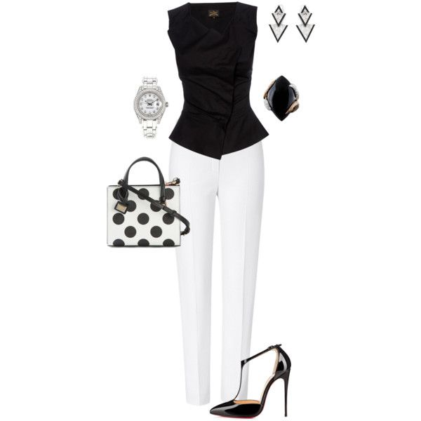 A fashion look from June 2015 featuring ESCADA pants, Christian Louboutin pumps and Dolce&Gabbana tote bags. Browse and shop related looks.