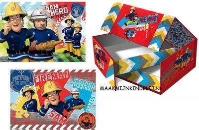 Brandweerman Sam hardcase puzzel box
