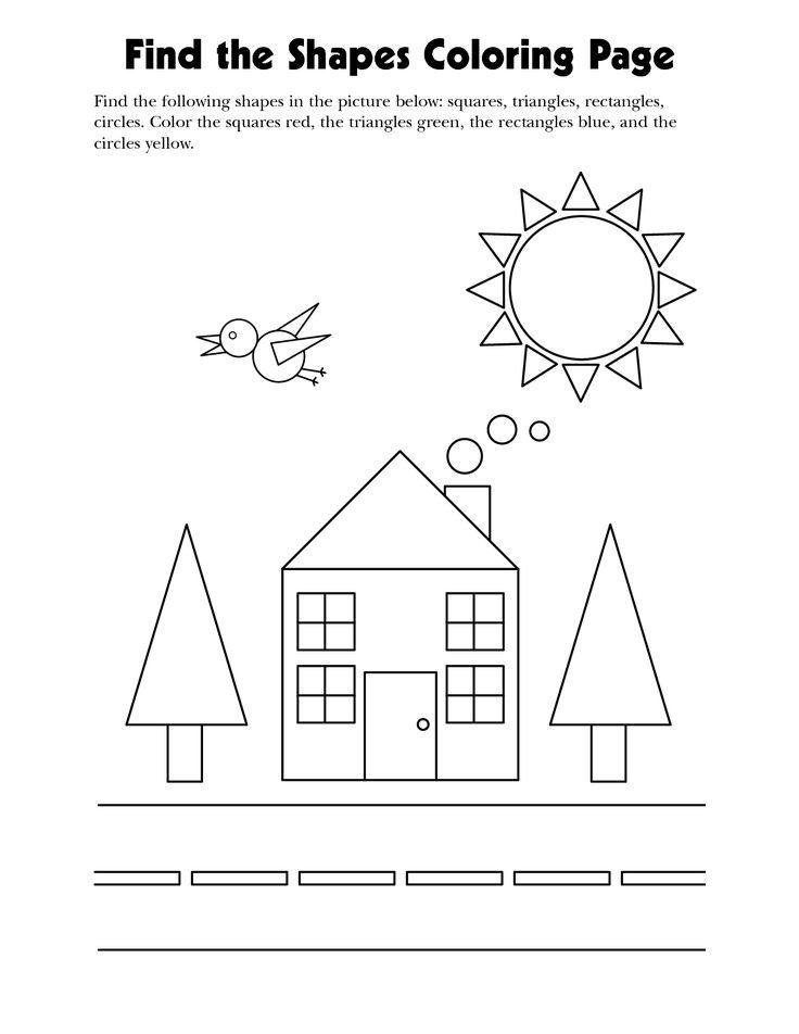 coloring and learning the shapes wir lernen die formen vorschulbl tter projekte im. Black Bedroom Furniture Sets. Home Design Ideas