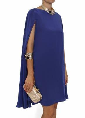 Bgo & me: Vestido de seda azul noche con capa