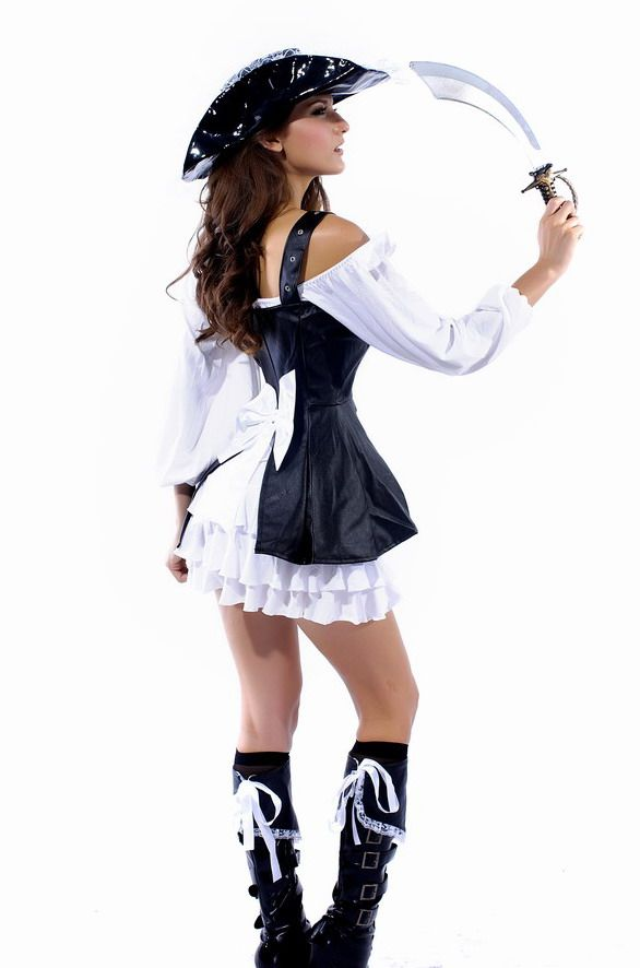 2013 European and American fashion pirate Halloween fashion prom dress uniforms leather show