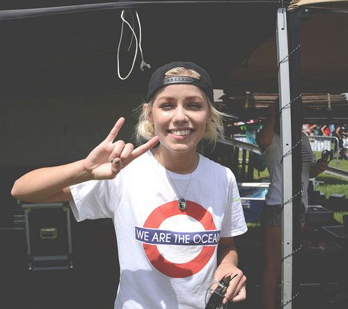 Jenna McDougall~ Tonight alive - she's swears so much on stage...