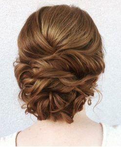 penteado de noiva preso