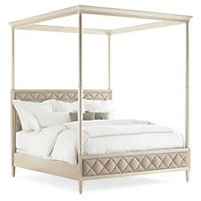King Ines Canopy Bed, Sand
