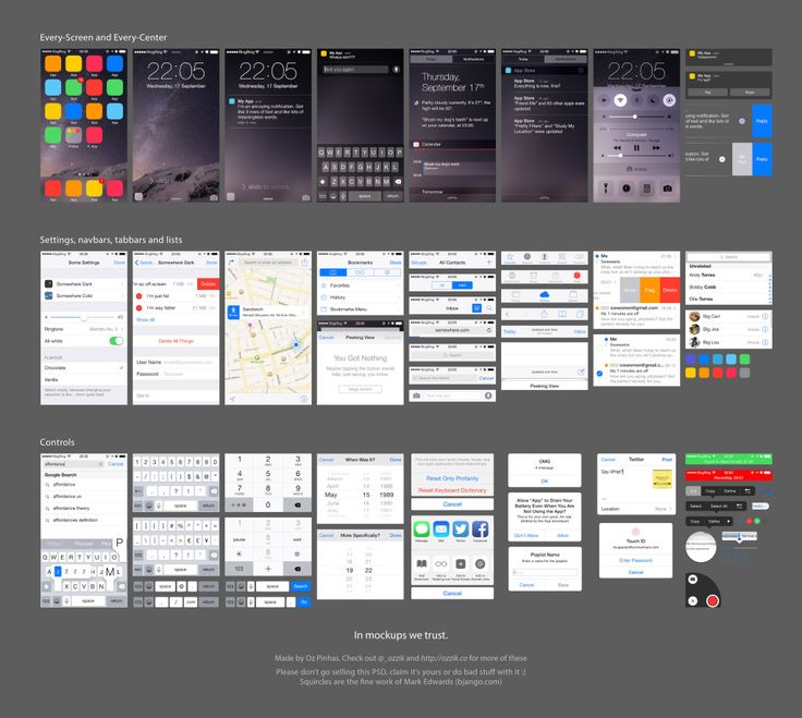 Ada Ivanoff shows 10 of her favorite Free UI Templates for Android Lollipop and iOS 8 application design.