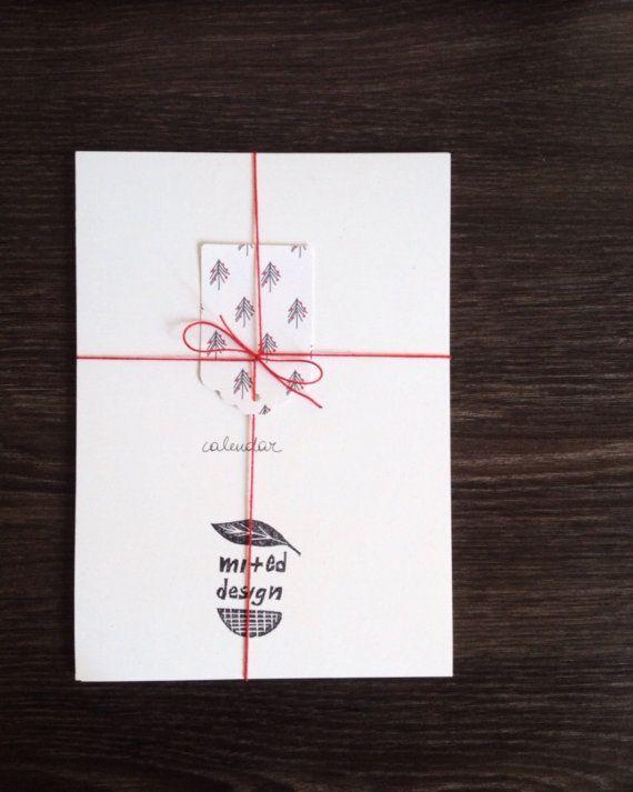 2015 Calendar Illustrated Black and White by mipluseddesign #calendar #gift #minimal #shootingstarsteam