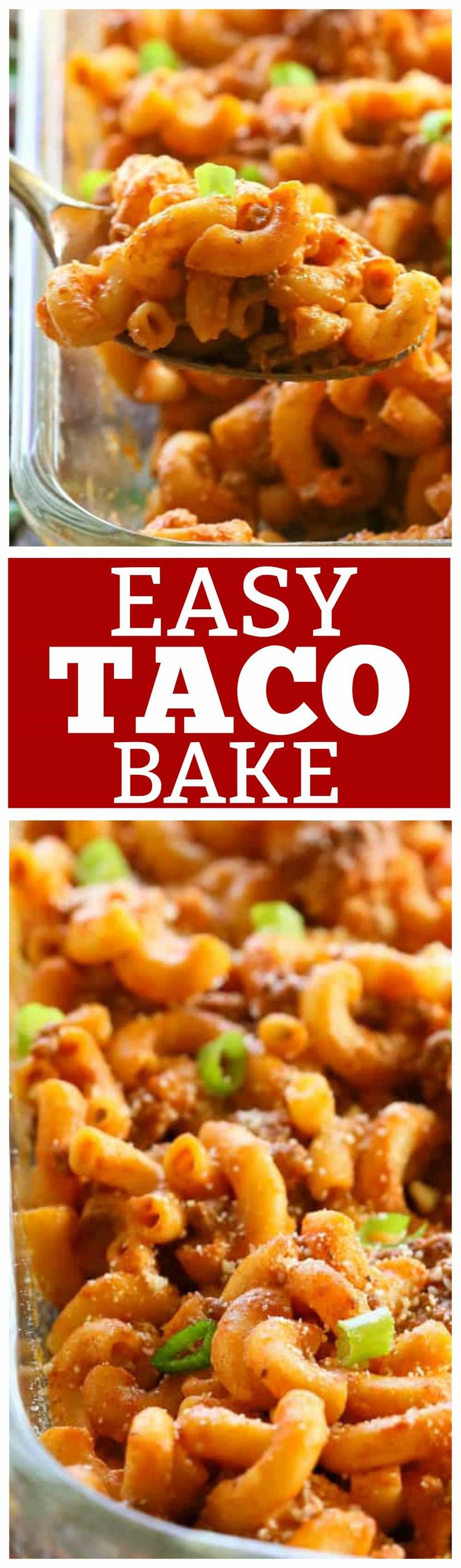 This Easy Taco Bake is apasta dish that tastes just like a taco!It can easily be made ahead of time and freezes great.