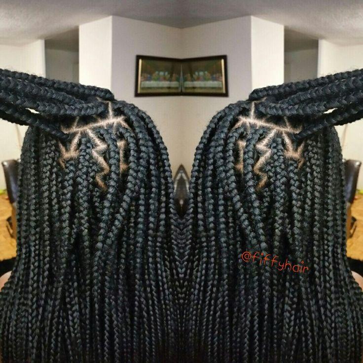 Box Braids by FiffyHair. For more photos follow @fiffyhair on Instagram